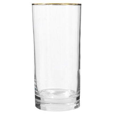 Gold-Rimmed Glass Tumblers – 16.3 oz.
