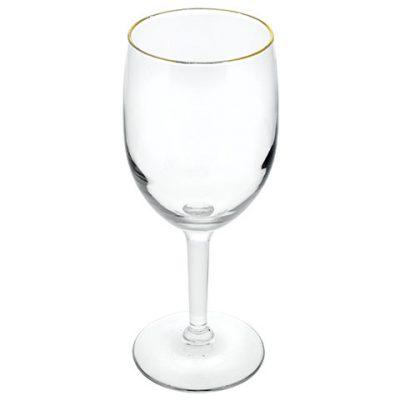 Gold-Rimmed Wine Glasses – 10.25 oz.