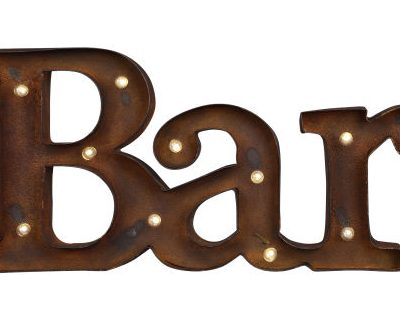 "Marquee ""BAR"" Sign"