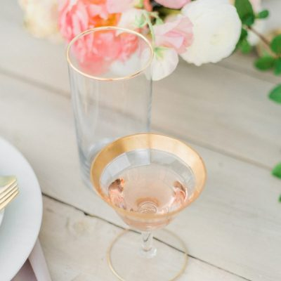 """Special"" Gold Rim Roman Wine Glasses (2 Sizes)"