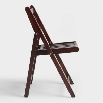 Espresso Wood Folding Chair