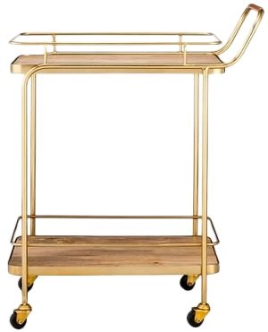 Wood and Gold Bar Cart