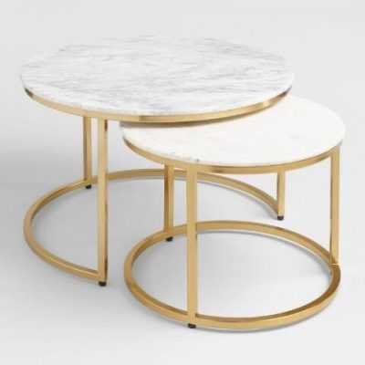 Gold and Marble Nesting Tables